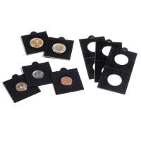 LEUCHTTURM lipnūs JUODI monetų holderiai 17,5mm.