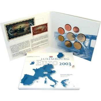 Liuksemburgas 2003 Euro monetu BU rinkinys