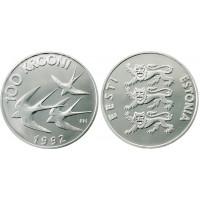 Estija 1992 Pinigų reforma 100 Kronų