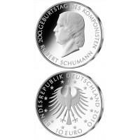 Vokietija 2010 10 euro Robert Schumann J