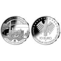 Vokietija 2010 2010 10 euro Eisenbahn in Deutschland D
