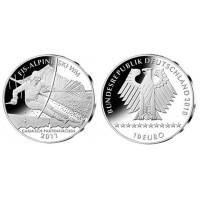 Vokietija 2010 10 euro Alpine Ski-WM