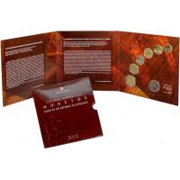 Lietuva 2013 m. laidos LDK pergalingų mūšių sukaktims skirtas numizmatinis apyvartinių monetų rinkinys su atminimo ženklu