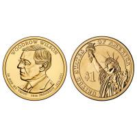 JAV 2013 1 doleris Woodrow Wilson 28-as prezidentas D