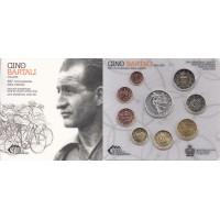 San Marinas 2014 Euro monetų BU rinkinys su sidabrine 5 eurų moneta