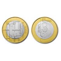 Slovėnija 2010 3 eurai Pasaulio knygų sostinė