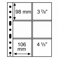 Leuchtturm įmautės GRANDE šeši skyriai 106x98 mm