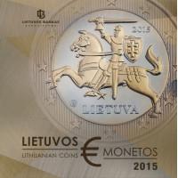 Lietuva 2015 Euro monetų Proof rinkinys