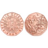 Austrija 2014 5 eurų - Nuotykiai Arktyje
