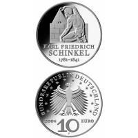 Vokietija 2006 10 euro Karl Friedrich Schinkel F