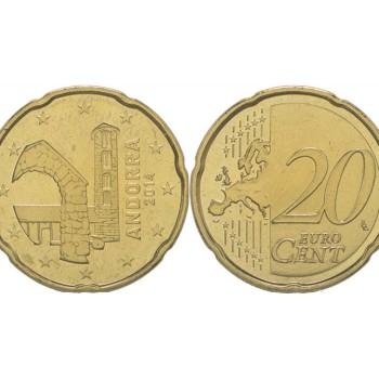 Andora 2014 20 Centų