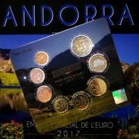 Andora 2017 Euro monetų BU rinkinys