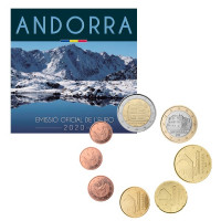 Andora 2020 Euro monetų BU rinkinys