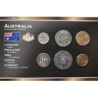 Australija 2004-2009 metų monetų rinkinys lankstinuke