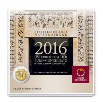 Austrija 2016 Euro monetų BU rinkinys