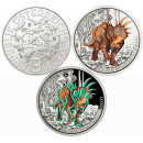 Austrija 2021 3 eurai Styracosaurus