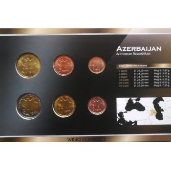 Azerbaidžanas 1991 metų monetų rinkinys lankstinuke