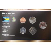 Bahamai 2005-2007 metų monetų rinkinys lankstinuke