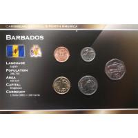 Barbadosas 2008-2009 metų monetų rinkinys lankstinuke