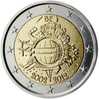 Belgija 2012 Eurų banknotų ir monetų dešimtmetis