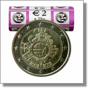 Belgija 2012 Eurų banknotų ir monetų dešimtmetis Rulonas