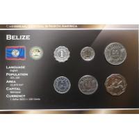 Belizas 2000-2010 metų monetų rinkinys lankstinuke