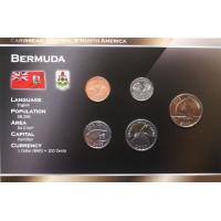 Bermudai 2000-2009 metų monetų rinkinys lankstinuke