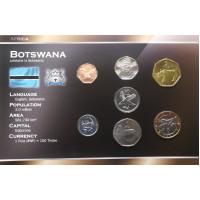 Bostvana 2000-2007 metų monetų rinkinys lankstinuke