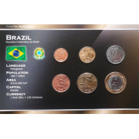 Brazilija 2004-2009 metų monetų rinkinys lankstinuke