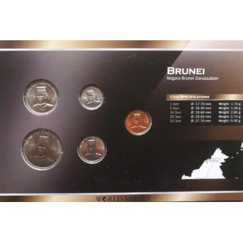 Brunėjus 2005-2008 metų monetų rinkinys lankstinuke