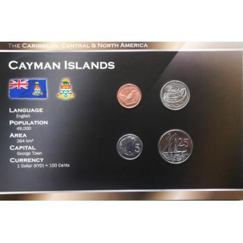 Kaimanų Salos 2002-2005  metų monetų rinkinys lankstinuke