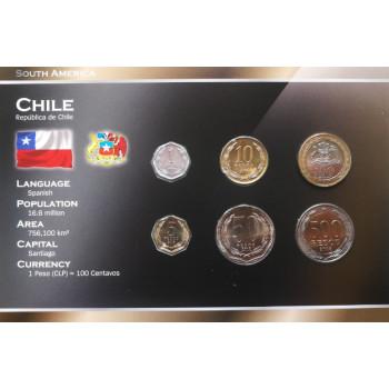 Čilė 2008 metų monetų rinkinys lankstinuke