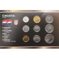 Kroatija 1993-2007 metų monetų rinkinys lankstinuke