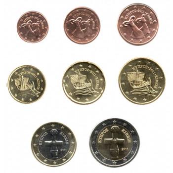 Kipras 2011 Euro Monetų UNC Rinkinys