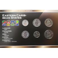 Rytų Karibų Valstijos 2004-2009 metų monetų rinkinys lankstinuke