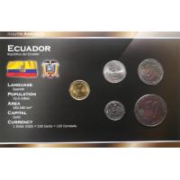 Ekvadoras 2000 metų monetų rinkinys lankstinuke