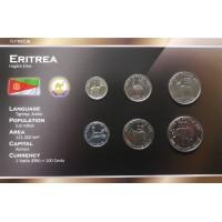 Eritrėja 1991 metų monetų rinkinys lankstinuke