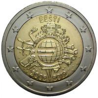 Estija 2012 Eurų banknotų ir monetų dešimtmetis