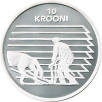 Estija 1998 Estijos Respublika 80 10 Kronų