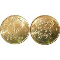Estija 2008 1 krona (Estijos Respublikai 90 metų)