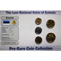 Estija 1992-2003 metų monetų rinkinys lankstinuke