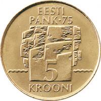 Estija 1994 5 Kronos Estijos Bankui 75