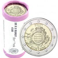 Estija 2012 Eurų banknotų ir monetų dešimtmetis Rulonas