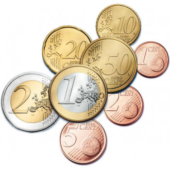 Belgija 2011-2014 Euro monetų UNC rinkinys skirtingų metų