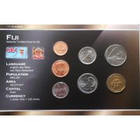 Fidžis 1999-2009 metų monetų rinkinys lankstinuke