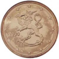Suomija 2000 0.01 centas