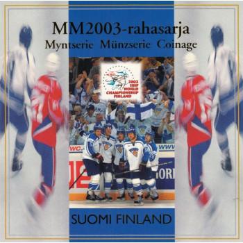 Suomija 2003 Euro monetų BU rinkinys Ledo rutulys