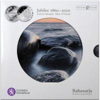 Suomija 2010 Euro monetų BU rinkinys 1860-2010 1 MARKKA