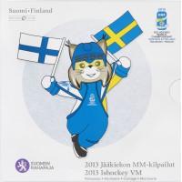 Suomija 2013 Euro monetų BU rinkinys Ledo rutulys su 5 eurų moneta