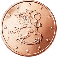 Suomija 1999 1 centas